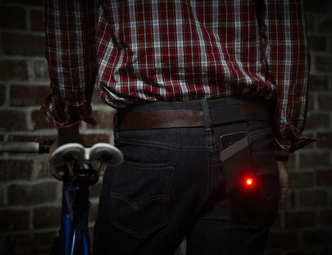 Smartphone-Converted Bike Lights - Monocle by Studio KMD Ensures Cyclist Safety at Nighttime