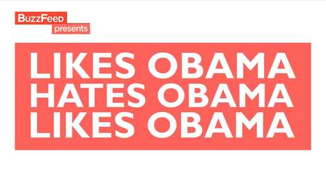 Political Preference Melodies - The 'Likes Obama/Hates Obama' Song Shows Celebrity Taste