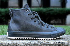 Hipster Leather Sneakers - The Converse Chuck Taylor Hollis Hi Mixes Finesse and Streetwear