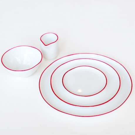 The Abbesses Ceramic Set Allows for Simple Elegant Dining