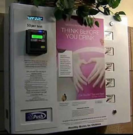 pregnancy test vending machine