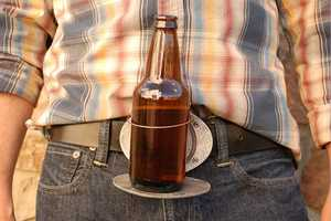 The BevBuckle Lets You Rest Your Bottle or Can Wherever You Are