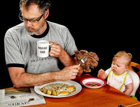 Hilarious Dad-Daughter Portraits - World's Best Father by Dave Engledow is Quite the Opposite
