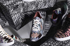 Psychedelic Tennis Sneakers (UPDATE) - The Missoni Converse Fall/Winter Collection is Bold