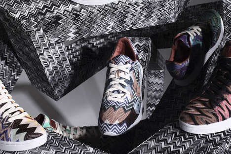 Psychedelic Tennis Sneakers (UPDATE) - The Missoni Converse Fall/Winter 2012 Collection is Bold