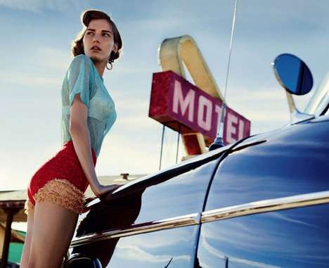10 Moving Marique Schimmel Editorials - From Floral Backseat Fashion to Racily Bound Snapshots