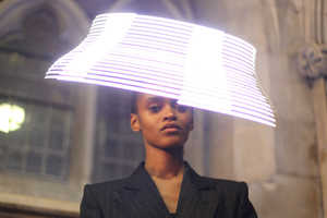 LED Hats by Moritz Waldemeyer for Philip Treacy Shine with Modernism