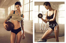 Lingerie Workout Editorials
