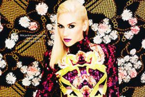 The Elle UK Gwen Stefani October 2012 Feature Boasts Fierce Florals