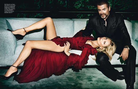 George Michael and Kate Moss Vogue