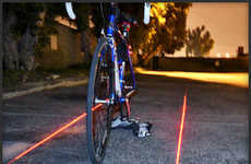 Projected LED Bike Lanes