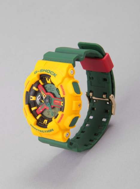 Casio G-Shock Rastafarian Pack