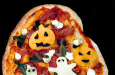 Ghoulishly Cheesy Pizza Pies