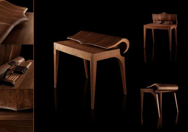 Curvaceous Wooden Workstations