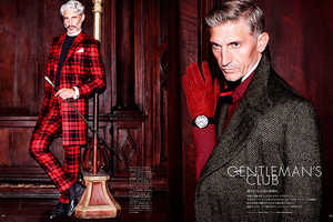 The Gentleman's Club Vogue Hommes Japan Fashion Story is Excessive