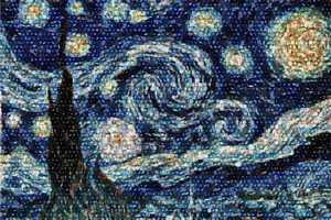 An Astronomer Recreates Van Gogh's Starry Night Using Pictures of Galaxies
