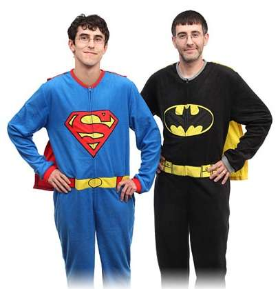 Caped Superhero Sleepwear - The Superman and Batman Pajamas are Excitingly Playful