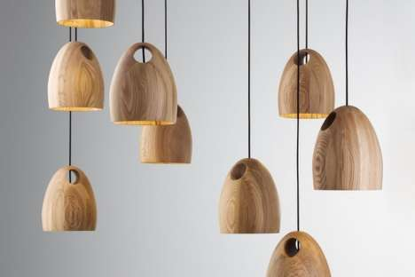 Oak Pendant Lamp