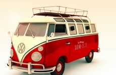 Barbecue-Transforming Vehicles - The Volkswagen BBQ Van is a Car-Loving Grill King's Ideal Gift