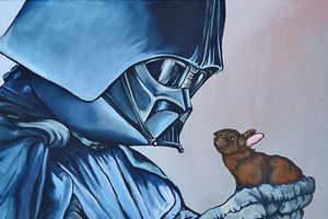 Feel the Warm and Fuzzy Power of the Force with Star Wars Bunny Art