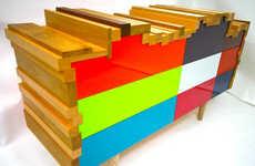 Colorful Scrappy Cabinets
