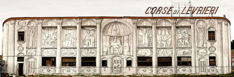 Controversial Graffiti Scenes - The Blu Mural in Italy Displays Provocative Imagery