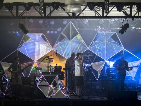 Yeasayer Stage Design by Casey Reas