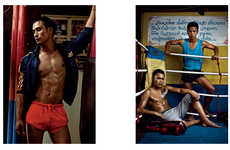 Sporty Sparring Photoshoots - The VMAN Blood Sport Editorial Shows the Fashions of a Deadly Game
