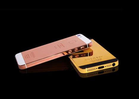 24 Karat Gold Smartphones - The Gold & Co. Golden iPhone 5 is Luxurious