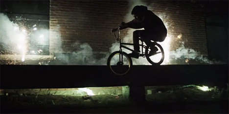 Free-Styling Firework Stunt Riders - Brooks Reynolds Creates a BMX Stunt Video Filled with Fireworks