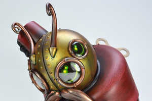 The Doktor A. Montague Sculpture is a Writing Wind-Up Beetle