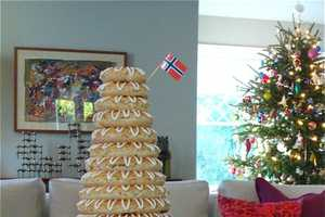 The 'Spectacular Holiday Cake' Rises High Above Dining Tables