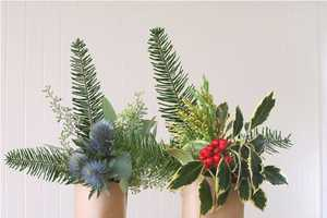 The 'Holiday Wine Bottle Bouquets' Are Crafty Presents
