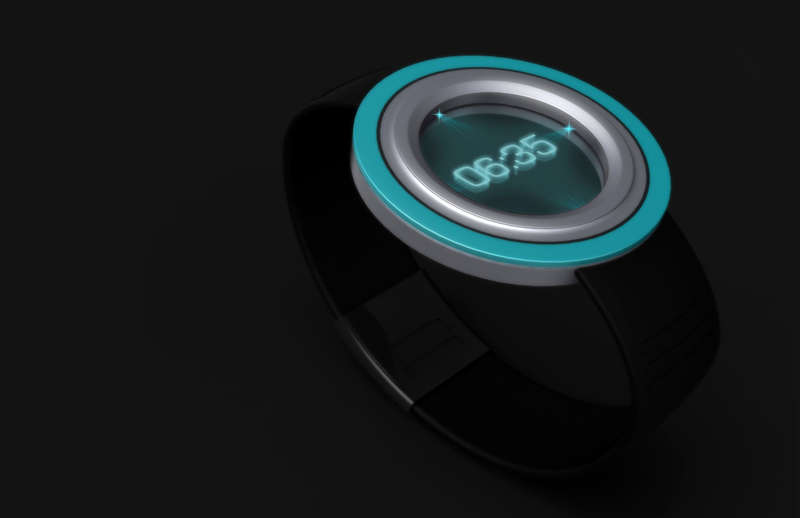Tron-Like Holographic Timepieces