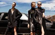 Leather-Clad Trio Captures