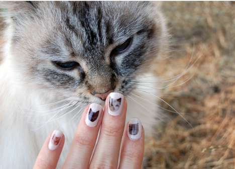 DIY Cat Nail Decals