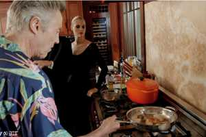 Cooking with Christopher Walken is a Crazy Culinary Experience