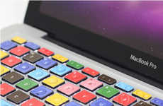 Building Block Laptop Keys - The LEGO Macbook Keyboard Adds Nostalgic Color to Your Life