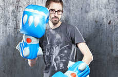 Inflatable Mecha Mittens - The Giant Robot Battle Fists are Epic Cushioned Crushers