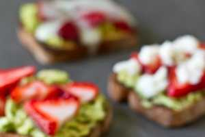 The 'Edible Perspective' Avocado, Strawberry and Goat Cheese Snack
