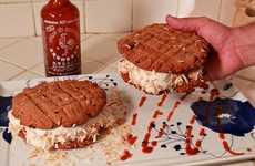 Fiery Frozen Desserts - The Sriracha Ice Cream Sandwiches Revolutionize Savory & Sweet Combinations