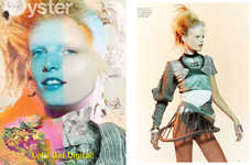 Futuristic Martian-Like Editorials - The Oyster 'Earth –> Hanne' Cover Shoot Stars Hanne Gaby