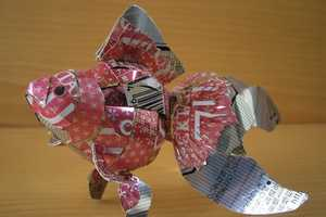 The Macaon Beer and Soda Can Artwork Recycles Troublesome Containers
