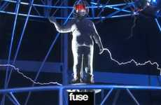 The David Blaine Stunt With Andrew W.K. is Electrifying