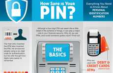 Bank Safety Infographics - The 'How Safe Is Your PIN?' Pictorial Features Useful Anti-Hacking Info