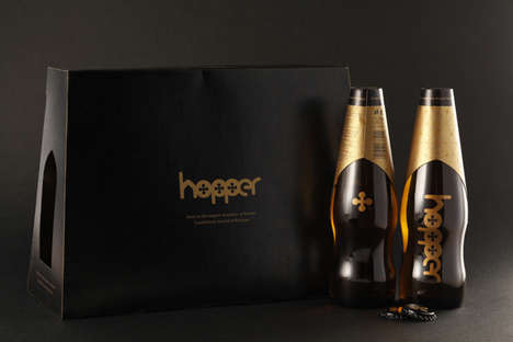 Monastic Booze Branding - Hopper Beer Packaging Manages a Contemporary Image with Traditional Roots