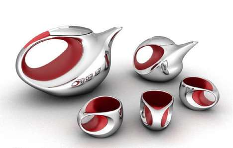 Steel Birds Tea Set