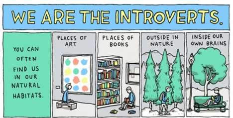 Inspirational Introvert Illustrations - The 'We are the Introverts' Comic Encourages Individuality