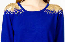Shimmering Sequin-Sprinkled Tops
