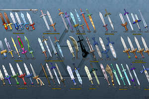 The Zelda Weapon Wallpaper Displays All of Link's Swords